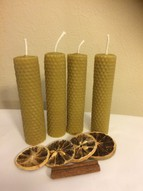 Advent Beeswax candle set