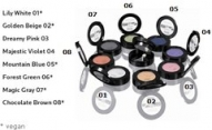 Eyeshadows containing high quality minerals TREND Sensitiv LAVERA 6 colours